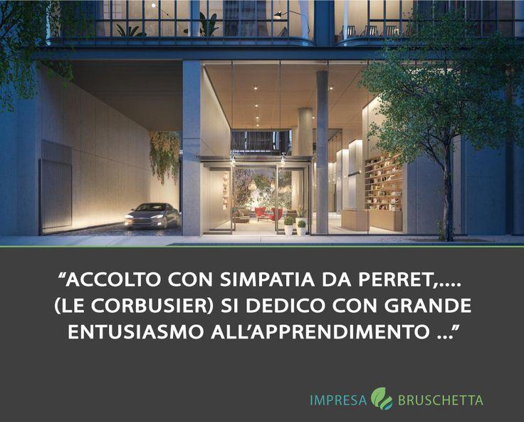 """PERRET E IL CALCESTRUZZO IN EDILIZIA Accolto con simpatia da Perret, Charles-edouard Jeannereti (Le Corbusier) si dedico con grande entusiasmo all'apprendimento di quella disciplina costruttiva che gli si rivelò poi assai più complessa e ricca di quanto avesse immaginato. """"Il cemento armato -citerà lui stesso ricordando le parole di Perret- permetterà di costruire intere città o di trasformarle a seconda delle nostre necessità""""  www.impresabruschetta.it"""