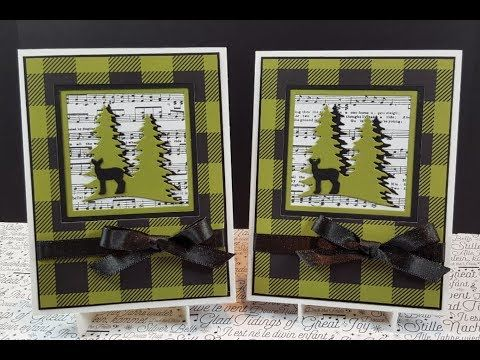Stampin' Up! Carols of Christmas Card # 1 Online Class Tutorial - YouTube