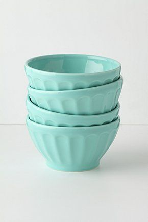 AnthroDecor, Kitchens, Latte Bowls, Anthropology, Mixed Bowls, Colors, Tiffany Blue, Ice Cream, Things