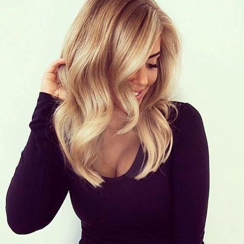 Medium Length Dark Blonde