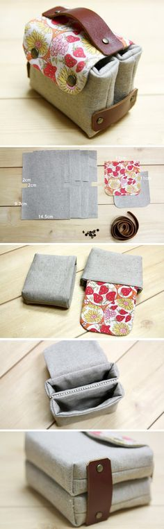 Sewing Fabric Gift Card or Business Card Holder. Tutorial DIY in Pictures.  http://www.handmadiya.com/2015/11/business-card-holder-tutorial.html