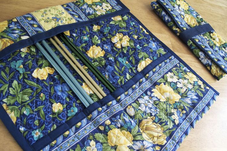 Quilted Knitting Needle Case Pattern : Knitting needle case tutorial pinterest