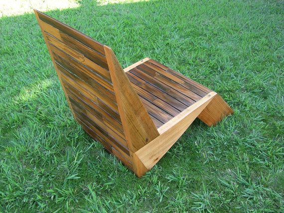Deck chair lawn chair redwood deck chair by sweetreddesign for Redwood deck plans