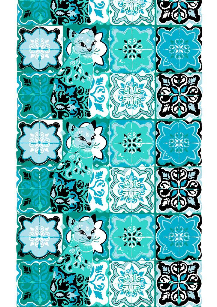Vallila Interior Kujakatti turquoise