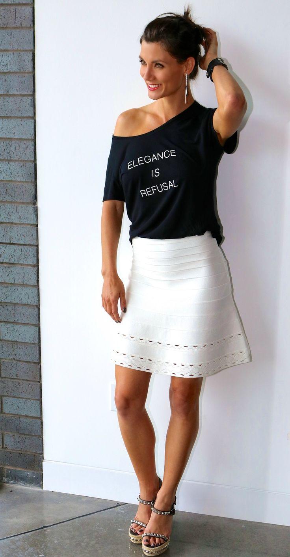 Elegance Is Refusal // Hervé Leger Skirt // Casual Day // Liberté