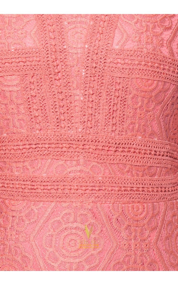 Jubah Maxi Dress crafted in crochet lace overlay - Vercato Vika in Salmon Orange. The beloved ankle-grazing, traditional dress is re-imagined with a crochet overlay. SHOP NOW: www.vercato.com