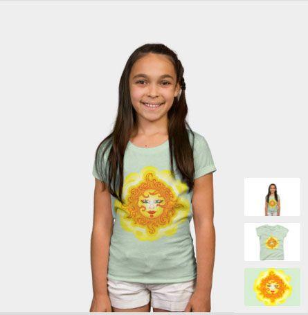 Abstract Sun #DesignByHumans #DBH #Graphic #design #abstract #sun #yellow #summer #tshirt #shirt #girl http://www.designbyhumans.com/shop/t-shirt/girl/abstract-sun/108582/