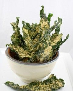 Make these easy and delicious baked kale chips with parmesan cheese, an amazingly more-ish, no carb alternative to potato chips!