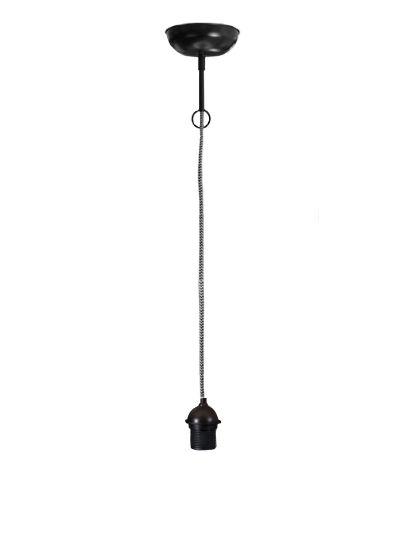Pendel touw zwart