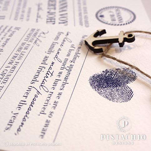 Nortical design wedding invitation by www.pistachiodesigns.co.za