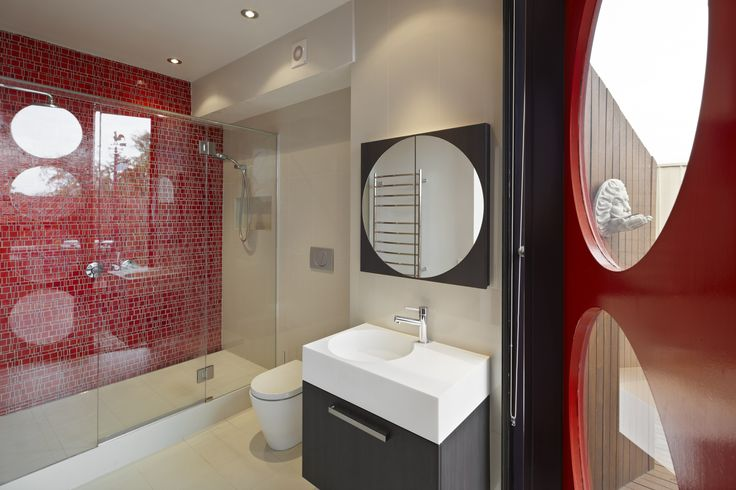 RESERVOIR BATHROOM Designed by Russell Henderson Built by Smarter Bathrooms  Mosaic Feature wall, Porthole mirror,
