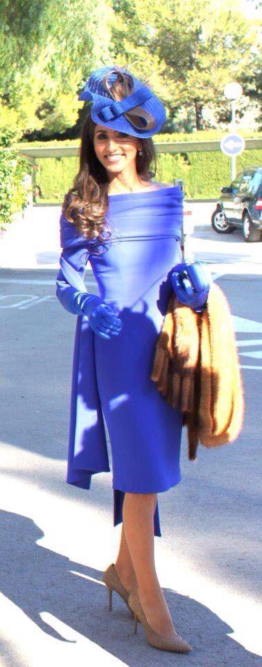 Vestido azul klein invierno