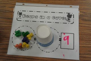"Kindergarten Kel: Kindergarten Bear Unit! Free- how many are left in the cave? Do with ""Bear Snores On"""