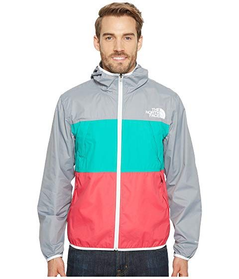 909bb1e21 THE NORTH FACE Telegraph Wind Jacket, MID GREY/SPECTRA GREEN ...