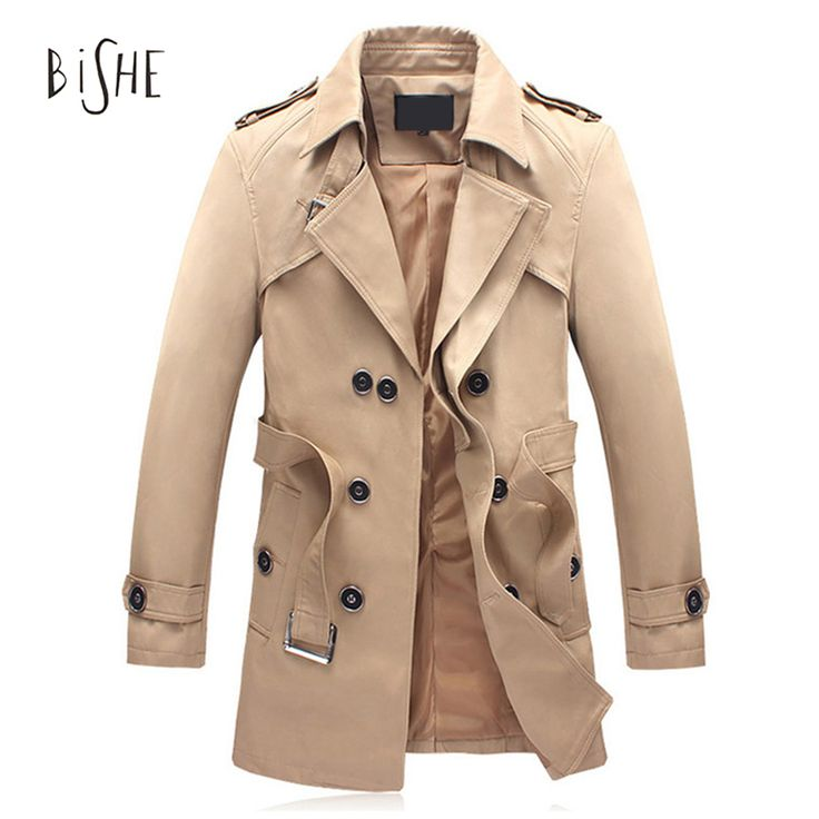 Spring And Autumn Single Breasted Trench Coat Men Long Sleeve England Style Erkek Mont Short Manteau Homme Mens Overcoat