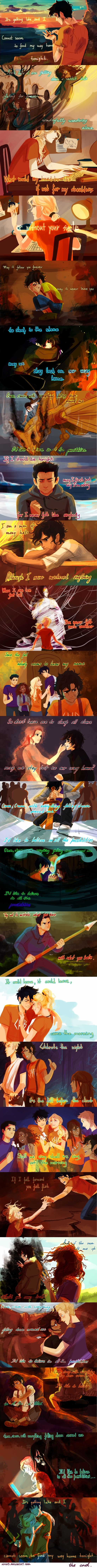 Finally... I found a pic of all of the lyrics together.. song C'mon by Panic feat. Fun... sooo touching