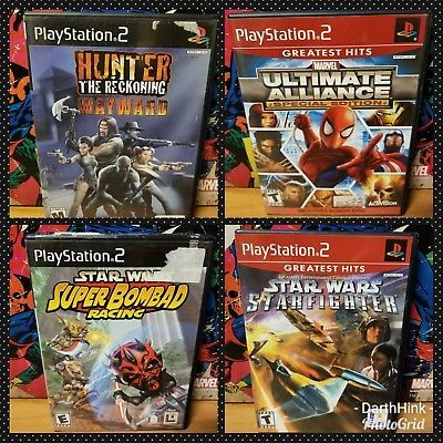 Playstation 2 PS2 Video Game LOT of 4 Marvel Ultimate Alliance Star Wars & More!