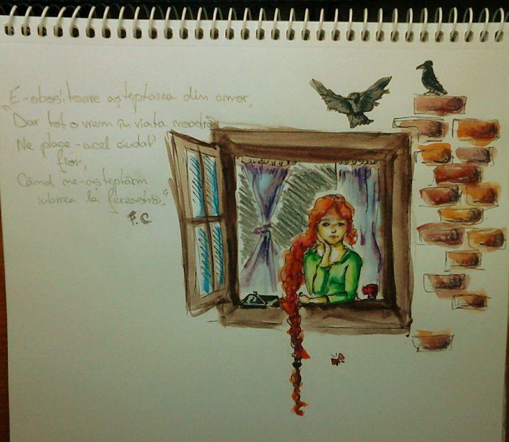 """""""E-obositoare așteptarea din amor,  Dar tot o vrem in viața noastră,  Ne place-acel ciudat fior,  Când ne-așteptăm iubirea la fereastră."""" F.C."""