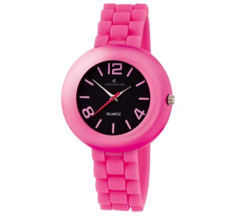 Reloj con caja en aleación metálica chapado I. P. rosa. - Cristian Lay
