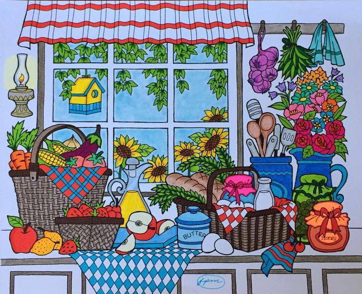 ColorIt Blissful Scenes Colorist: Frances Martini #adultcoloring #coloringforadults #adultcoloringpages #scenes