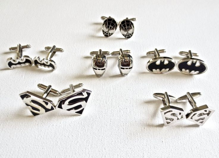 You are looking at six (6) pairs of beautiful crafted superhero cufflinks. This is great for groomsmen! Great gift for anyone that loves the movies. One of my favorite movies when I was a kid. Every g