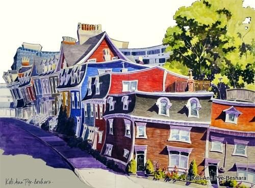 Art prints from original paintings by Newfoundland Artist Keli-Ann Pye-Beshara. From the Cut-Out Series -This is the picturesque corner of Gower and Cochrane Street, downtown St. John's, NL, with the Newfoundland Hotel to the very back. This is a piece I painted live at the Downhome Lifestyle Expo 2012, as a result of a Facebook voting process where the public chose which painting I would create. I was searching for a name for the piece, and the answer came during the Expo when a local…
