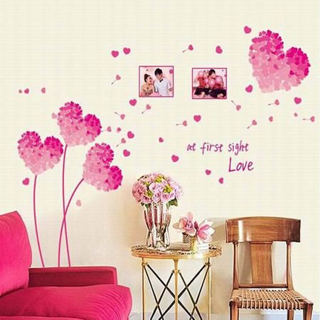 Pink Wall Decor best 25+ pink wall stickers ideas on pinterest | grey wall