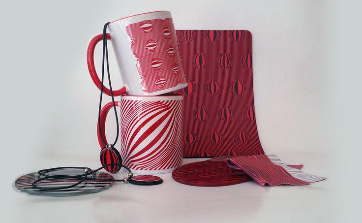 piros illúzió termékek/ red illusion products www.dekorozmar.hu