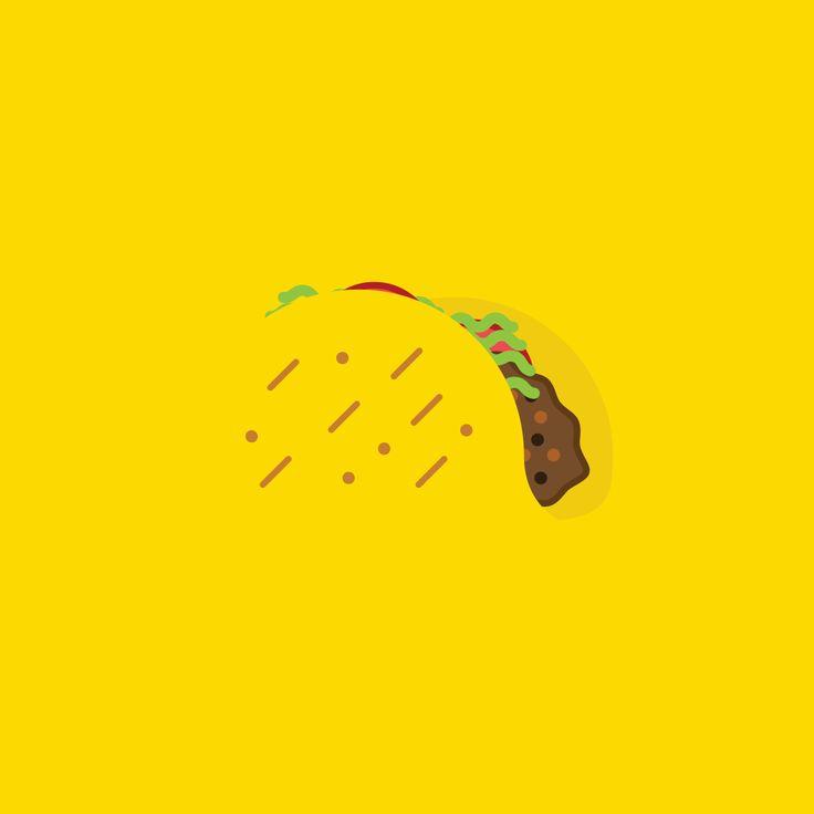 #taco #illustration #cool #yellow #sayole