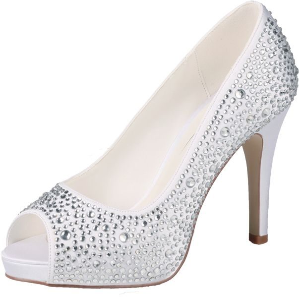 Wedding Shoes with rhinestones by G.Westerleigh