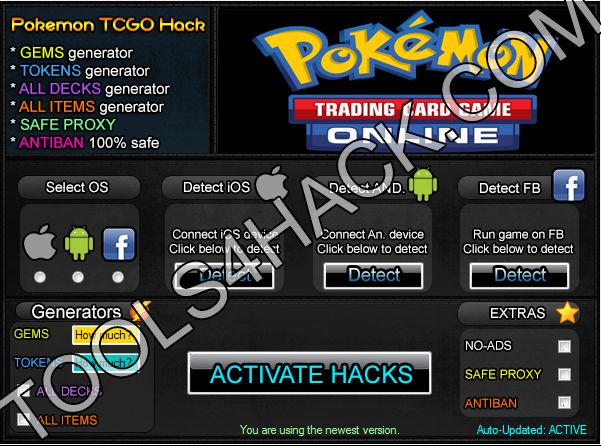 Pokemon TCG Online  Hack - 27.06.2014 Updated http://tools4hack.com/pokemon-tcg-online-hack-cheats-ios-android/