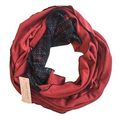 Australian Made Gifts & Souvenirs with the Red Infinity Scarf -by Julian Reddish. For the best Australian online shopping for a Scarves - 1