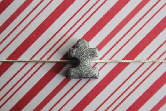 Polymer Clay Autismus Bewusstsein Collier, Mini Puzzle Stück Schmuck, Autismus-Halskette, Puzzle Stück Kette, Autismus spricht Halskette