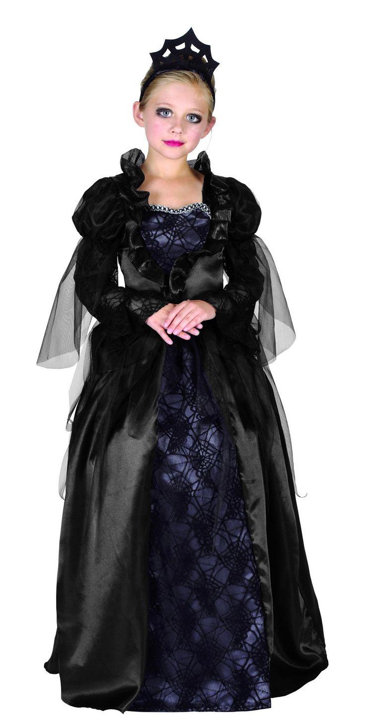 Dit gravin Halloween kostuum voor meisjes zal perfect zijn om op uw Halloweenfeesten uw dochter in een gravin te veranderen! - Nu verkrijgbaar op Vegaoo.nl