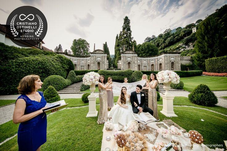 villa d'este wedding ceremony