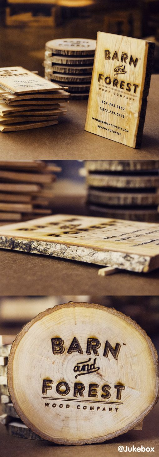 With the ease of access to laser etching and cutting, wooden business cards have become a trend in a premium business cards and are a great way to grab attention by using an unusual material for the cards.