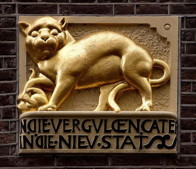 I love gargoyles.  Gevelsteen IN DIE VERGVLDEN CATER    Leidsegracht 97, Amsterdam