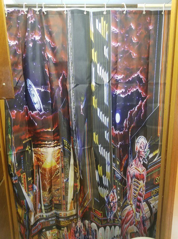 I Didn T Even Know They Made Iron Maiden Shower Curtains But