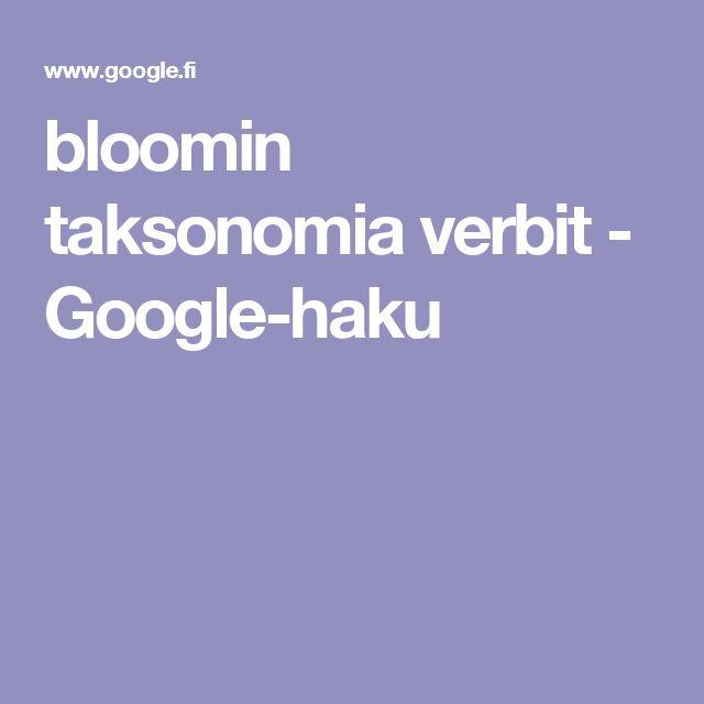 bloomin taksonomia verbit - Google-haku