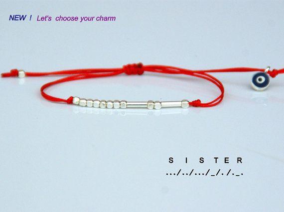 Morse code bracelet Sister morse code