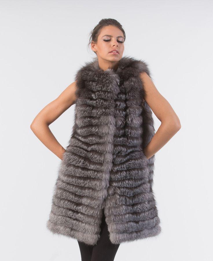 Blue Frost Fox Fur Vest     #fox #fur #vest #real #style #realfur #naturalfur #elegant #haute #luxury#chic #outfit #women #classy #online #store