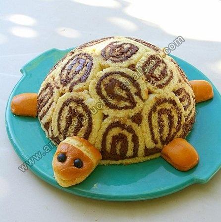 idée Gâteau tortue pour l'anniv' de ma fille