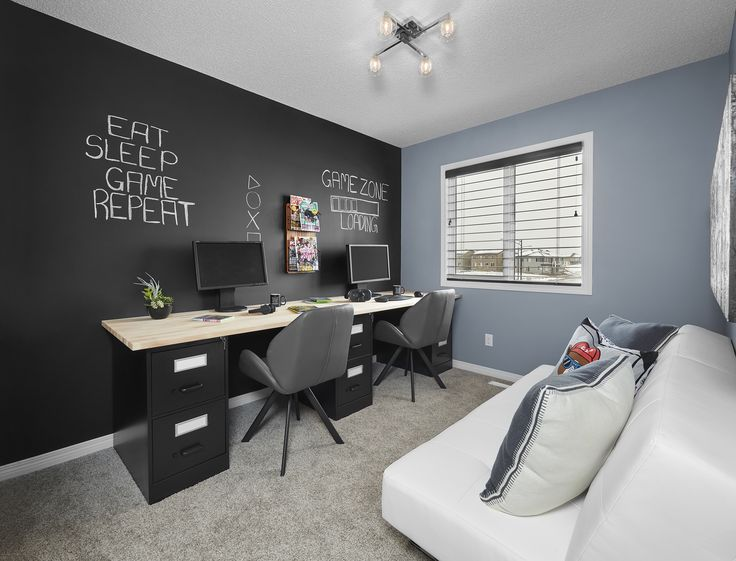 3 Staples filing cabinets and 2 Ikea wood tables create the perfect office or gaming desk!
