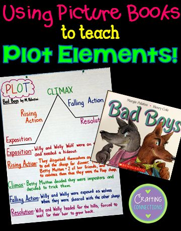 Teaching Plot with a Picture Book... with a freebie! | Crafting-Connections.blogspot.com | Bloglovin'