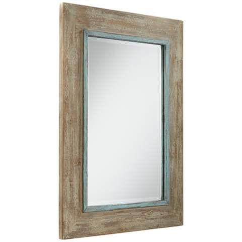 Uttermost Gardere Blue Green Trim 30 X 40 Wall Mirror 5x089 Bathroom