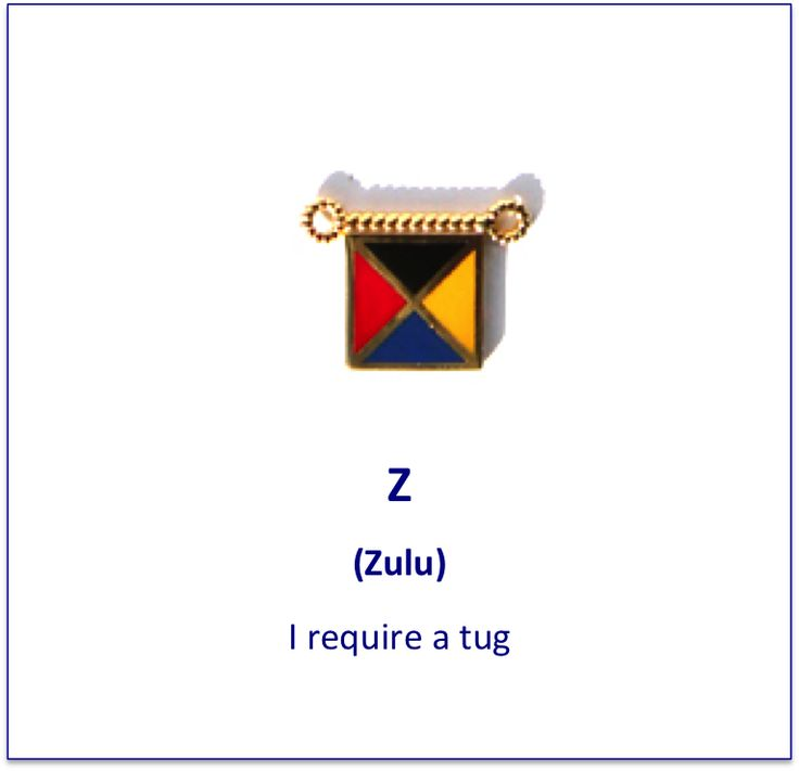 Z (Zulu) signal flag charm)
