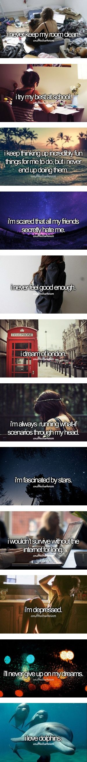 All except for 3rd to last and dreaming of London