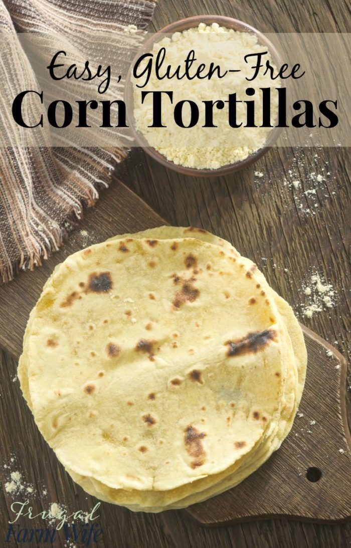 These homemade corn tortillas are gluten-free, easy to make, and SO delicious! You can't even compare them to packaged tortillas.