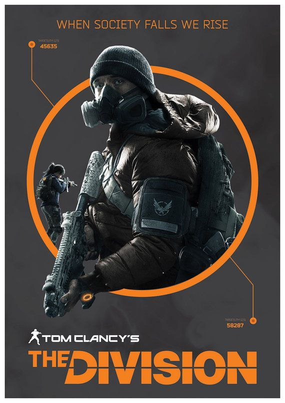 The Division Video Game Poster by ExtremepandaDesign on Etsy #gaming #thedivision #ubisoft