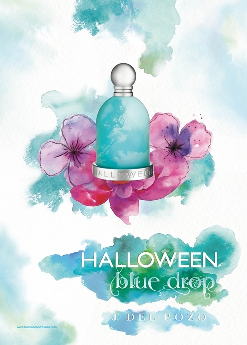 halloween blue drop jesus del pozo perfume top notes are citruses green apple and lavender middle notes are jasmine violet and white flowers - Halloween Purfume
